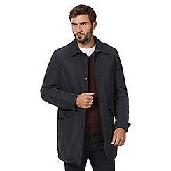 Jeff Banks - Big and tall navy padded mac coat