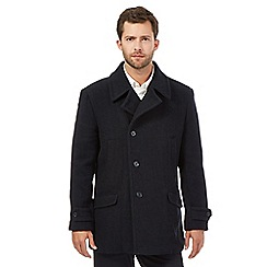 Jeff Banks - Big and tall navy pea coat