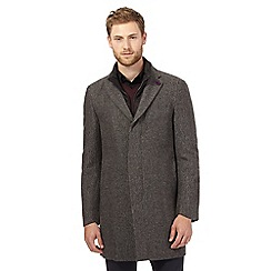 Jeff Banks - Grey 2-in1 wool blend coat