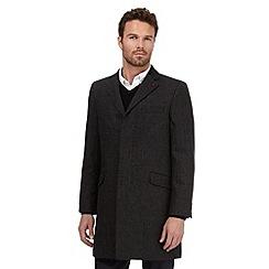 Jeff Banks - Dark grey wool blend coat