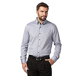Jeff Banks - Big and tall designer grey jacquard shirt