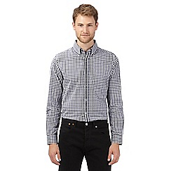 Jeff Banks - Big and tall designer navy gingham shirt