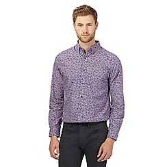 Jeff Banks - Big and tall lilac floral print shirt