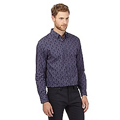 Jeff Banks - Big and tall purple paisley shirt