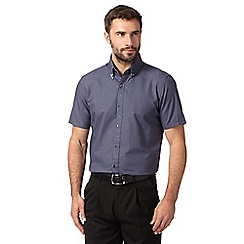Jeff Banks - Big and tall designer navy jacquard shirt