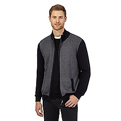 Jeff Banks - Navy cashmere and silk blend sweater