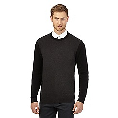 Jeff Banks - Big and tall black colour block jumper