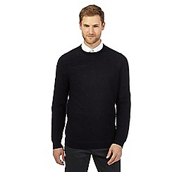 Jeff Banks - Big and tall navy wool blend merino wool jumper