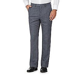 Jeff Banks - Big and tall grey herringbone trousers