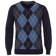 jeff banks Blue argyle knitted jumper
