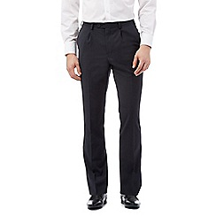 Jeff Banks - Big and tall navy wool blend tailored trousers