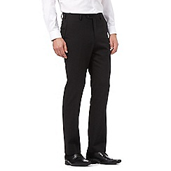 Jeff Banks - Big and tall black wool blend tailored trousers