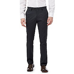 Jeff Banks - Big and tall dark grey twill chino trousers
