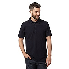 Jeff Banks - Big and tall designer navy pique front polo shirt