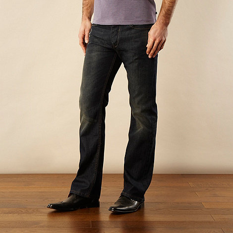 Jeff Banks - Designer dark blue bootcut jeans