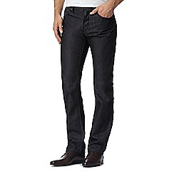 Jeff Banks - Big and tall designer dark blue straight fit jeans