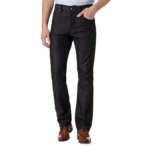 Jeff Banks - Designer black straight leg jeans