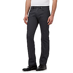 Jeff Banks - Grey coated straight fit jeans