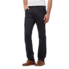 Jeff Banks - Big and tall navy coated straight fit jeans