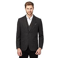 Jeff Banks - Big and tall grey mini check blazer