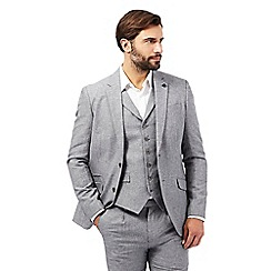 Jeff Banks - Big and tall grey linen blend blazer