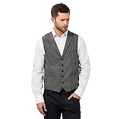 Jeff Banks - Big and tall grey textured waistcoat