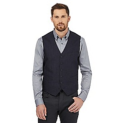 Jeff Banks - Big and tall navy pure linen waistcoat