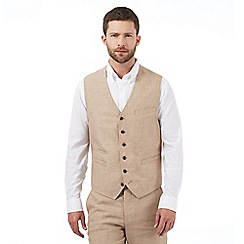 Jeff Banks - Big and tall natural pure linen waistcoat
