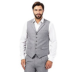 Jeff Banks - Big and tall grey sharkskin waistcoat