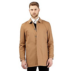 Jeff Banks - Big and tall tan short mac coat