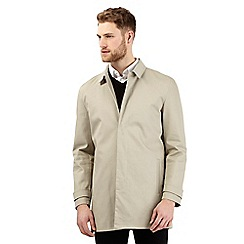 Jeff Banks - Big and tall beige short mac coat
