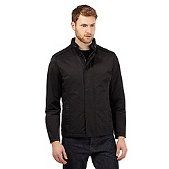 Jeff Banks - Big and tall black harrington funnel coat