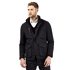 Jeff Banks - Big and tall navy mock 2-in-1 coat