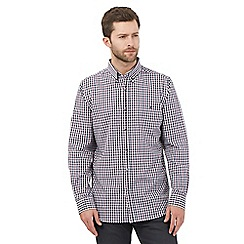 Jeff Banks - Big and tall purple gingham checked shirt