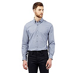 Jeff Banks - Navy pindot shirt