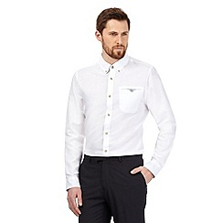 Jeff Banks - Big and tall white linen blend shirt