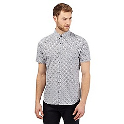 Jeff Banks - White short sleeved floral shirt
