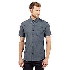 Jeff Banks - Navy short sleeved oval geometric print shirt