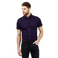 Jeff Banks - Purple mini polka dot print shirt