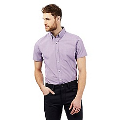 Jeff Banks - Big and tall lilac textured shirt