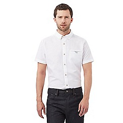 Jeff Banks - White short sleeved linen shirt