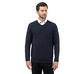 Jeff Banks - Navy V neck jumper