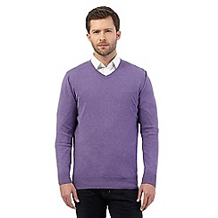 Jeff Banks - Big and tall lilac V neck jumper