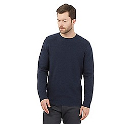 Jeff Banks - Big and tall navy cotton crew neck jumper