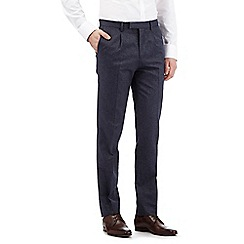 Jeff Banks - Navy honeycomb trousers