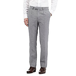 Jeff Banks - Big and tall grey sharkskin trousers