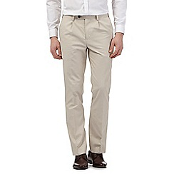 Jeff Banks - Big and tall beige smart trousers