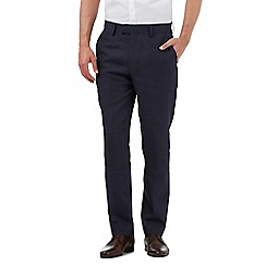 Jeff Banks - Big and tall navy linen trousers
