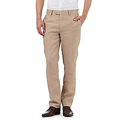 Jeff Banks - Big and tall beige linen trousers
