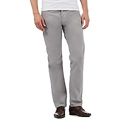 Jeff Banks - Big and tall grey textured trousers